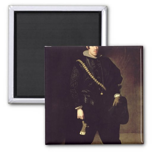 Portrait of Infante Don Carlos  c.1626-27 2 Inch Square Magnet