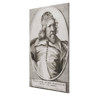 Portrait of Inigo Jones (1573-1652) engraved by We Gallery Wrapped Canvas