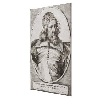 Portrait of Inigo Jones (1573-1652) engraved by We Canvas Print