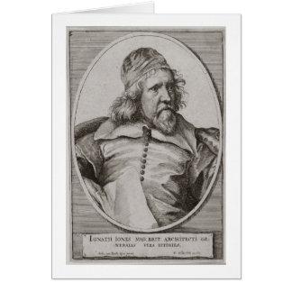 Portrait of Inigo Jones (1573-1652) engraved by We Card