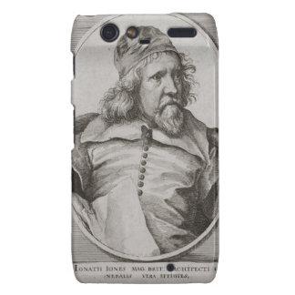 Portrait of Inigo Jones 1573-1652 engraved by We Motorola Droid RAZR Cover