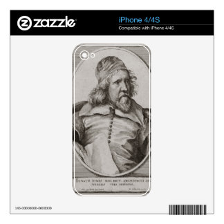 Portrait of Inigo Jones (1573-1652) engraved by We Decals For The iPhone 4