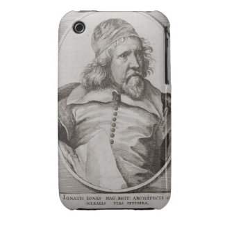 Portrait of Inigo Jones (1573-1652) engraved by We iPhone 3 Case-Mate Case