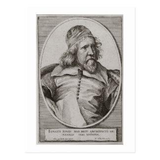 Portrait of Inigo Jones (1573-1652) engraved by We Postcard