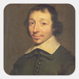 Portrait of Isaac-Louis Lemaistre de Sacy  1658 Square Sticker