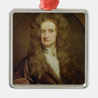 Portrait of Isaac Newton  1702 Metal Ornament