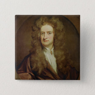 Portrait of Isaac Newton  1702 Pinback Button