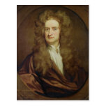 Portrait of Isaac Newton  1702 Postcard