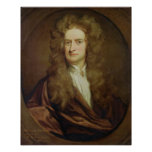 Portrait of Isaac Newton  1702 Poster