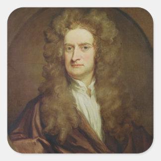 Portrait of Isaac Newton  1702 Square Sticker