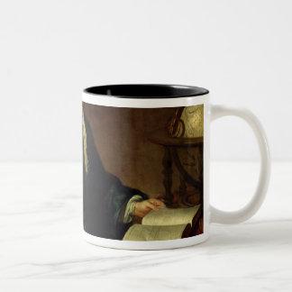 Portrait of Isaac Newton , c.1726 Two-Tone Coffee Mug