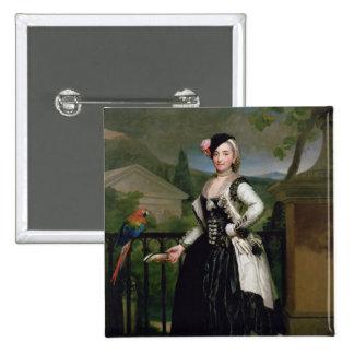 Portrait of Isabel Parrena Arce Button