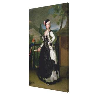 Portrait of Isabel Parrena Arce Canvas Print