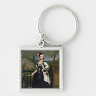 Portrait of Isabel Parrena Arce Keychain