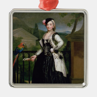 Portrait of Isabel Parrena Arce Metal Ornament