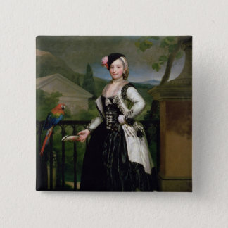Portrait of Isabel Parrena Arce Pinback Button