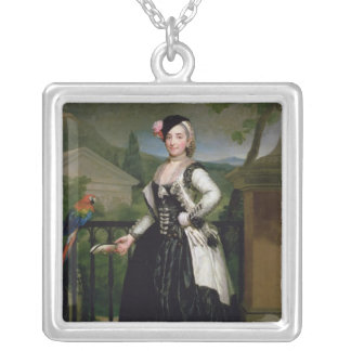 Portrait of Isabel Parrena Arce Silver Plated Necklace