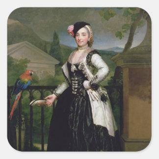 Portrait of Isabel Parrena Arce Square Sticker