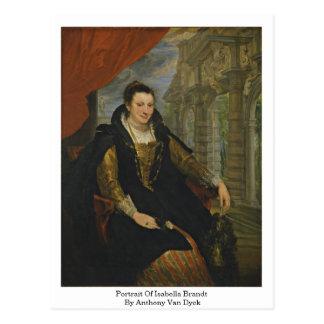 Portrait Of Isabella Brandt By Anthony Van Dyck Postcards