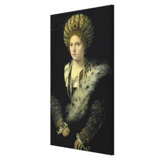 Portrait of Isabella d'Este Canvas Print