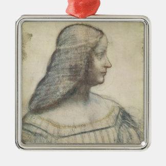 Portrait of Isabella d'Este Metal Ornament