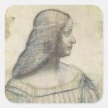 Portrait of Isabella d'Este Square Sticker