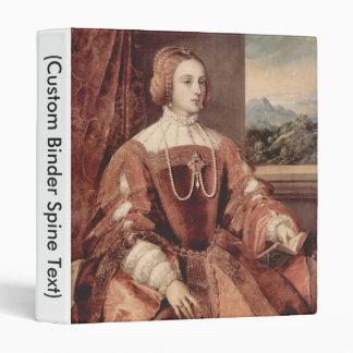 Portrait of Isabella of Portugal 3 Ring Binder