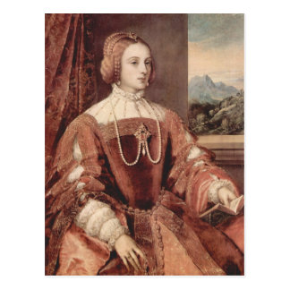 Portrait of Isabella of Portugal Postcard