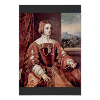 Portrait Of Isabella Of Portugal, Wife Of Holy Rom Poster