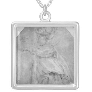 Portrait of Isabelle Helene Rubenst Silver Plated Necklace