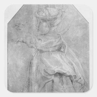 Portrait of Isabelle Helene Rubenst Square Sticker