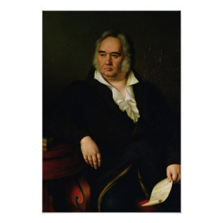 Portrait of Ivan A. Krylov, 1832 Poster