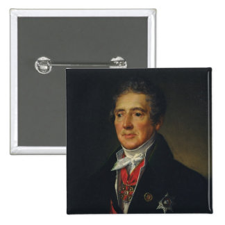Portrait of Ivan Dmitriev, 1835 Pinback Button