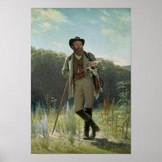 Portrait of Ivan Ivanovich Shishkin , 1873 Poster