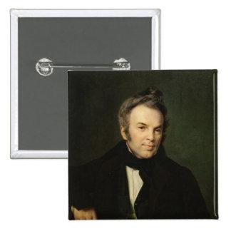 Portrait of Ivan Lazhechnikov, 1834 Pinback Button