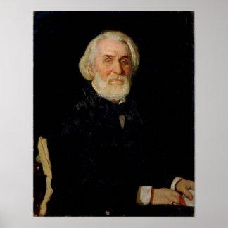 Portrait of Ivan S. Turgenev , 1879 Posters