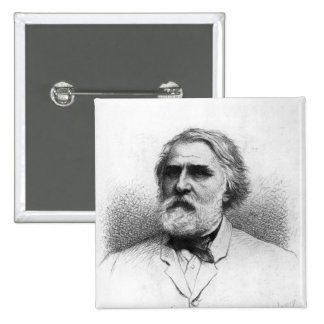 Portrait of Ivan Turgenev Button