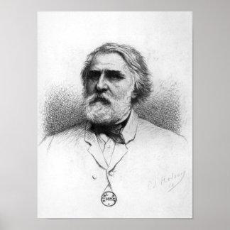 Portrait of Ivan Turgenev Poster