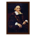 Portrait Of Jacob Trip By Maes Nicolaes Greeting Card