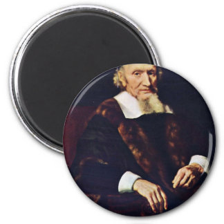 Portrait Of Jacob Trip By Maes Nicolaes Refrigerator Magnets