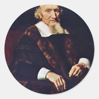Portrait Of Jacob Trip By Maes Nicolaes Sticker