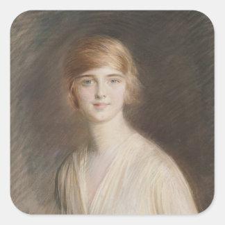 Portrait of Jacqueline Square Sticker