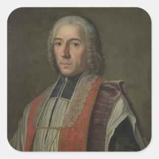 Portrait of Jacques Denis Cochin Square Sticker