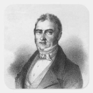 Portrait of Jacques Laffitte Square Sticker