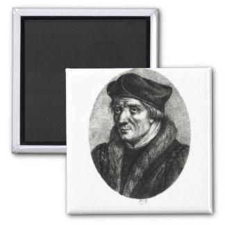 Portrait of Jacques Lefevre d'Etaples 2 Inch Square Magnet