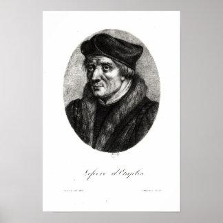 Portrait of Jacques Lefevre d'Etaples Poster