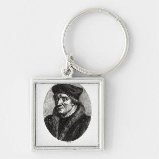 Portrait of Jacques Lefevre d'Etaples Silver-Colored Square Keychain