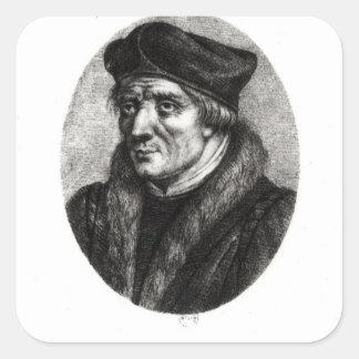 Portrait of Jacques Lefevre d'Etaples Square Sticker