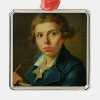 Portrait of Jacques-Louis David  as a Youth Metal Ornament