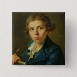 Portrait of Jacques-Louis David  as a Youth Pinback Button